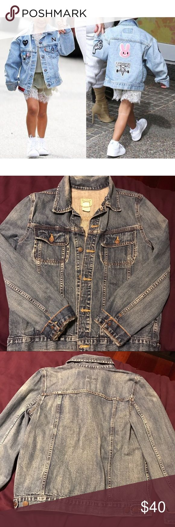 ✨Children's Jean Jacket!✨ Kid's Ralph Lauren Medium Denim Jacket! Slightly oversized, Super adorable, perfect for ANY outfit ALL YEAR ROUND! Great for both boys & girls, Jean jackets are a staple item for ANY closet bc they NEVER go out of style! *Distress it, add patches, or leave it as is! (*Cover image used as a style reference.) **NOT ZARA , used for exposure**✨BUNDLE & SAVE✨  REASONABLE OFFERS WELCOME!  ✨Comes from a smoke free environment ✨  ***TAGS: American Apparel, Topshop, Kids…