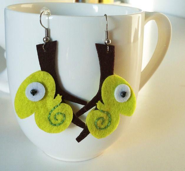 feelC - earrings chameleon