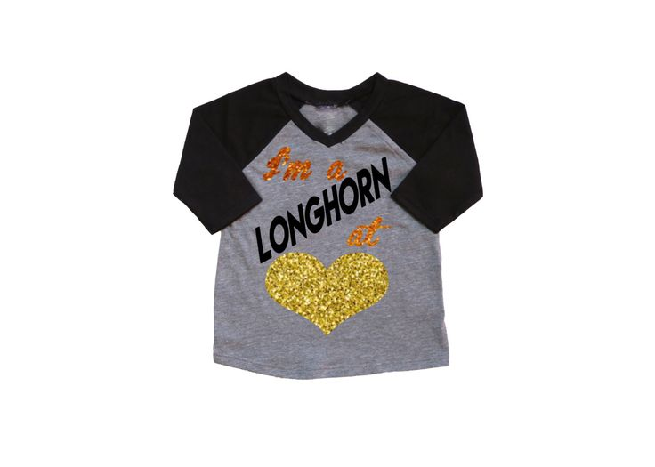 I'm a Longhorn at Heart/ Football shirt/ Toddler shirt/ Football/ Raglan by BeutiqueCreations on Etsy