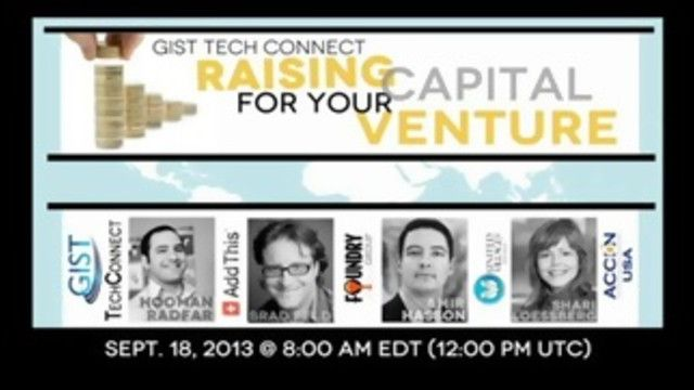 GIST Tech Connect: Raising Capital for Your Venture