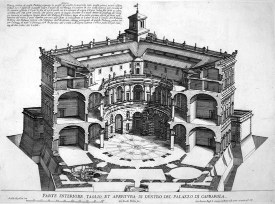 Villa Farnese cut away
