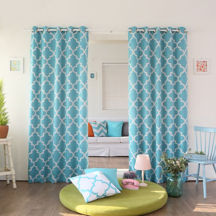 aurora home moroccan tile 96inch window curtain panel pair by aurora home