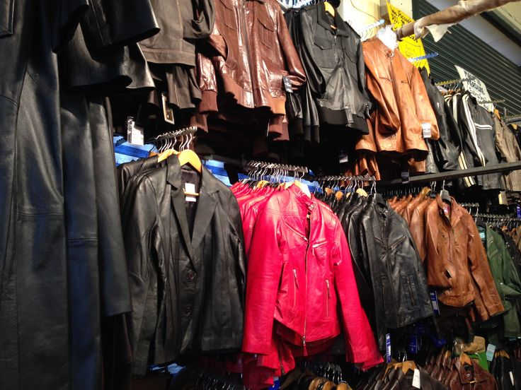 Range of leather goods on Sunny's stall