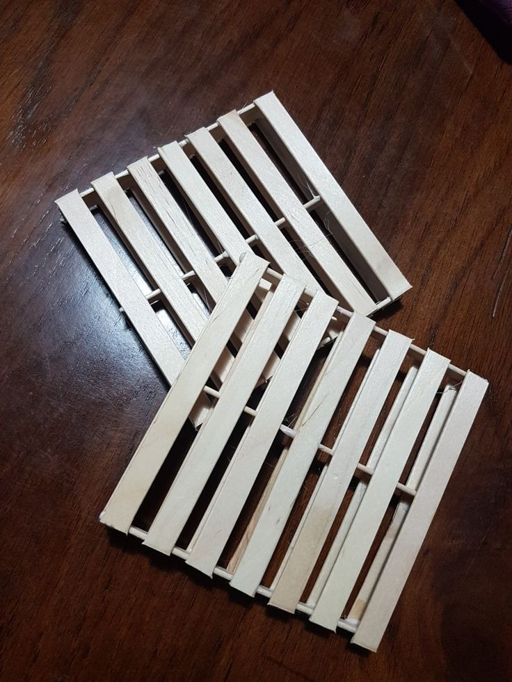 Made min pallets coasters. Pretty easy and fun.