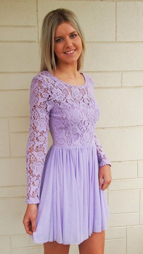 Lilac and Lace Crochet Dress. #ustrendy  www.ustrendy.com