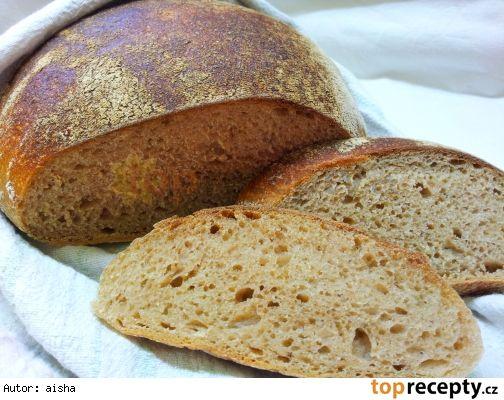 Kvaskovy chleb bez hneteni