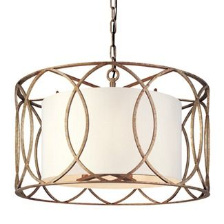 Troy Lighting Sausalito Five Light Pendant in Silver Gold - F1285SG