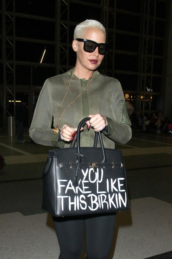 Эмбер Роуз ходит с поддельной сумкой Birkin : Эмбер Роуз / фото 1