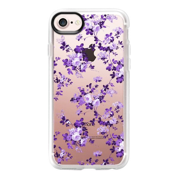 Vintage lavender purple elegant roses floral - iPhone 7 Case And Cover ($40) ❤ liked on Polyvore featuring accessories, tech accessories, phone cases, iphone case, clear iphone case, apple iphone case, purple iphone case, floral iphone case and iphone cases