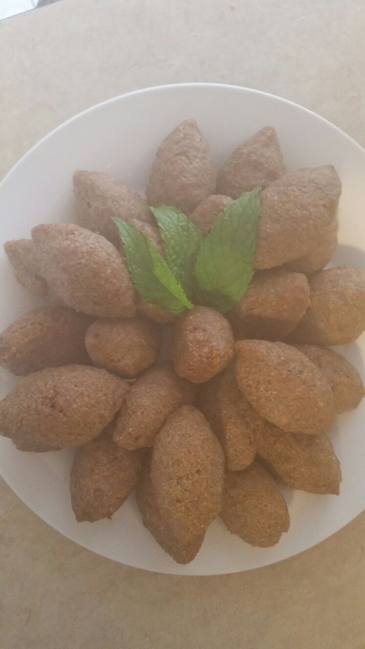 Kubeh. ..made from cracked wheat and beef