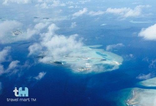 Flug über Malediven