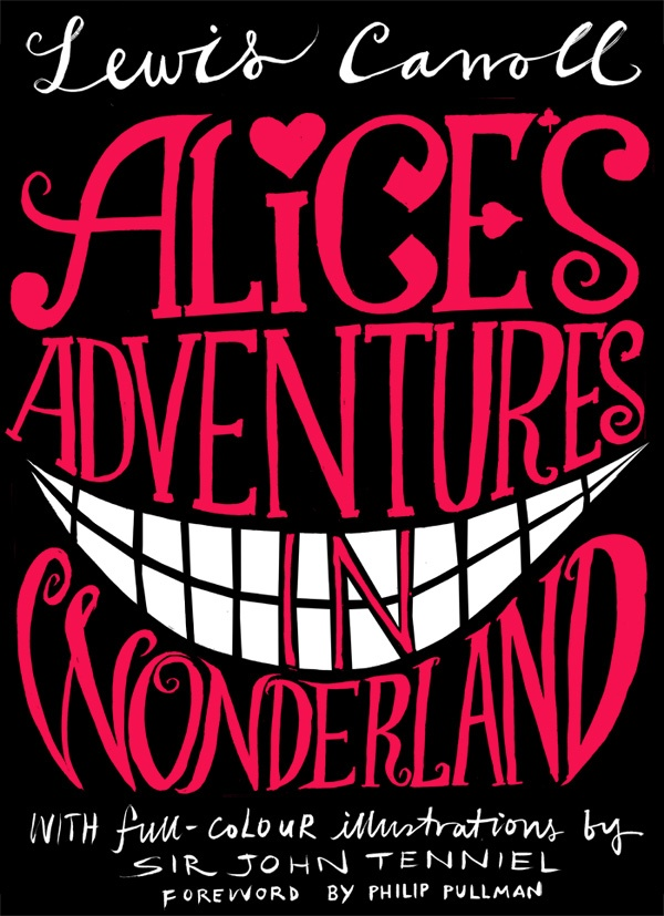 Book Cover Typography Worksheets ~ Typographic book cover alice s adventures in wonderland