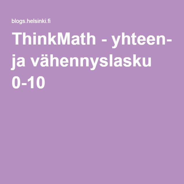 ThinkMath - yhteen- ja vähennyslasku 0-10