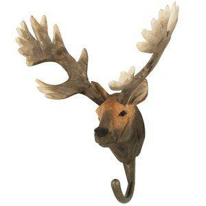 DecoHook Red Deer handcarved clothes hanger from Wildlife Garden - see all at : wildlifegarden.info