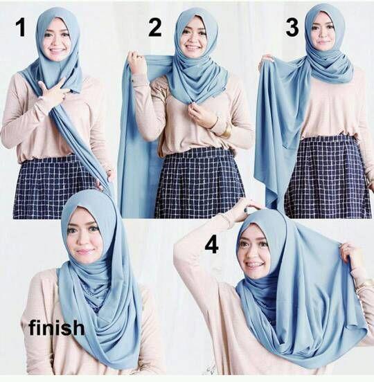 Easy Wrapped Hijab Tutorial