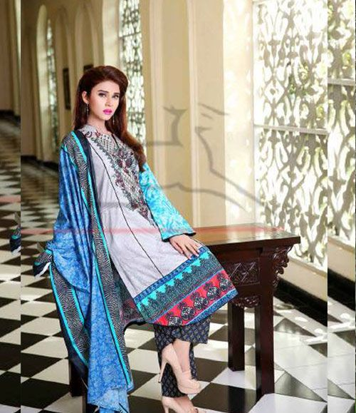 Lala Classic Cotton Embroidered lawn Suits Vol 1. CCE_10B