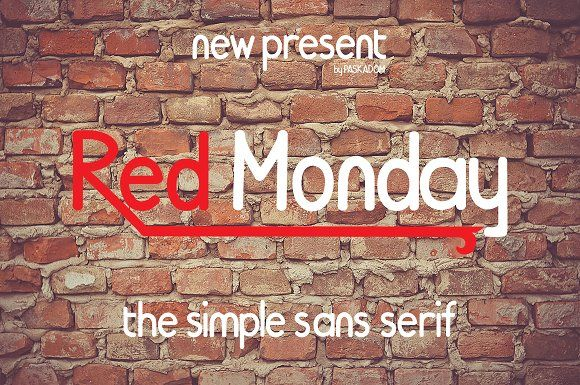 Red Monday by MARSOSE on @creativemarket