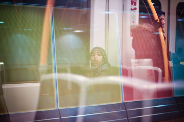 Girl on the T-Bane by coxy