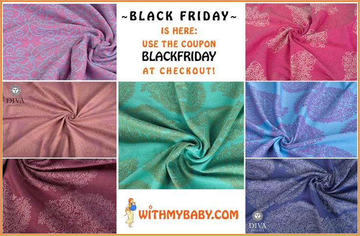 Black Friday doesn't have to be black. You'll be amazed at a variety of colors and prints in our store. Find your dream Mei Tai, Wrap or Ring sling and get it with great discount.