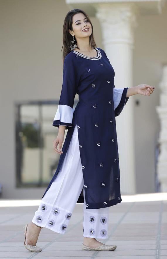 Designer Printed Rayon Long KurtiGown Dupatta Set For Women /& Girls||Designer Kurti set||Wedding Kurti Set||Gown Kurti Set||Free ship