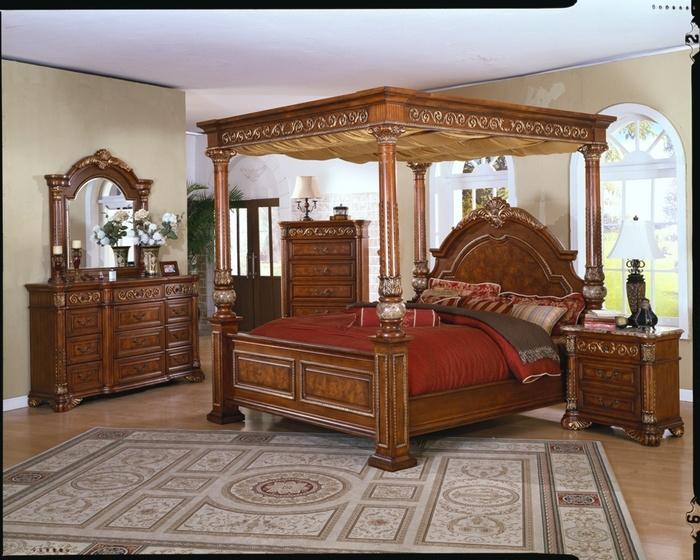 Master Bedroom Set Queen King Canopy Bed Sets Furniture
