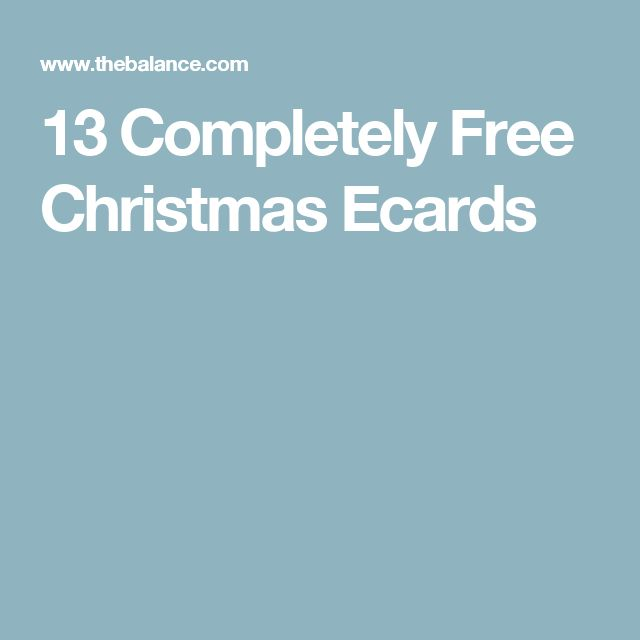 13 Completely Free Christmas Ecards