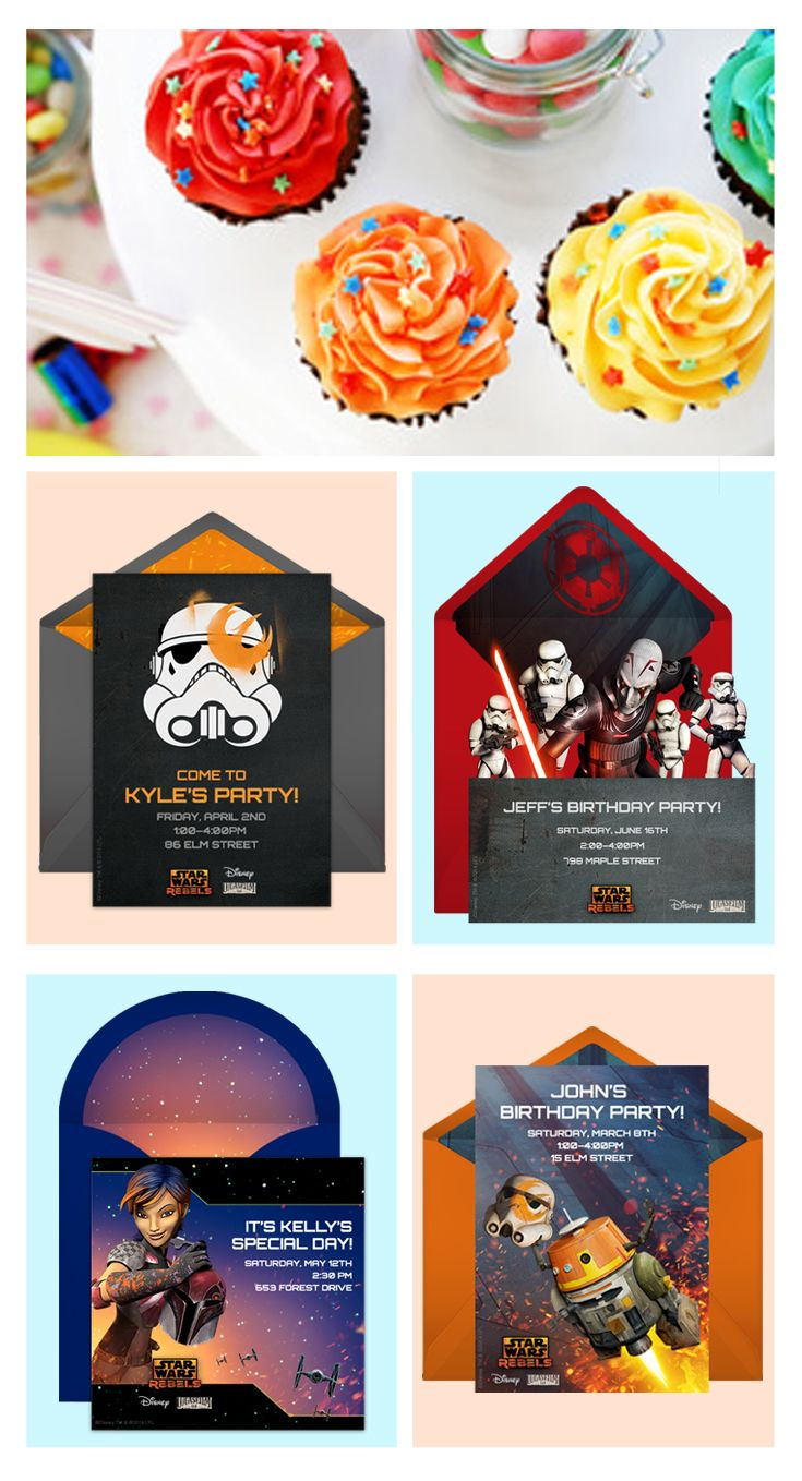 17 Best images about Star Wars Birthday – Punchbowl Birthday Invitations