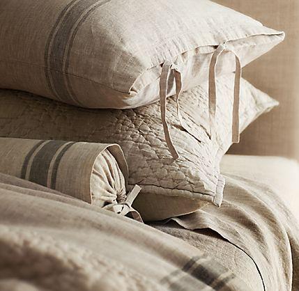 Burlap pillows