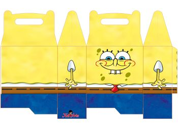 Funny SpongeBob SquarePants Free Printable Lunch Boxes.
