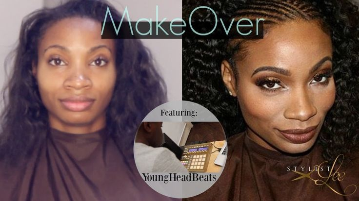 "Cornrow braids w/Natural Curly hair this is Different Music and Hair transformation.. Her hair came out great "" curly hair"" Sew in 