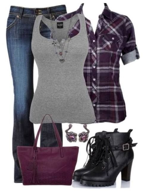 Cute Flannel Outfit