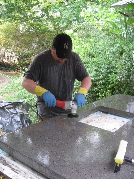 Concrete Countertops for the Kitchen - Solid Surface on the Cheap STEP BY STEP
