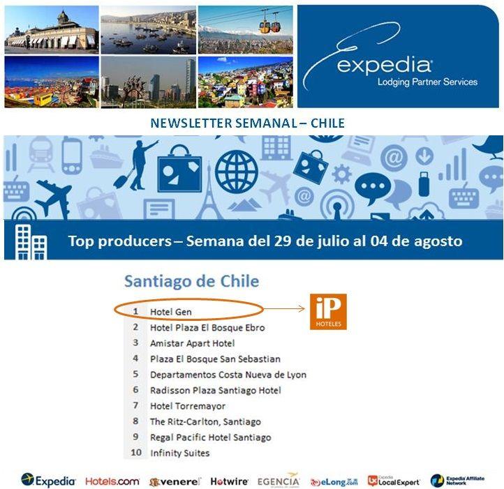 Felicitaciones al GEN Suite & Spa en #Chile, 1º Puesto en Ventas de Expedia para la Semana del 29 de julio al 04 de agosto de 2013 de 2013