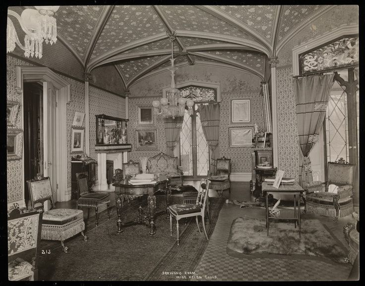 Victorian Drawing Room | The drawing room of the Helen Gould estate ...