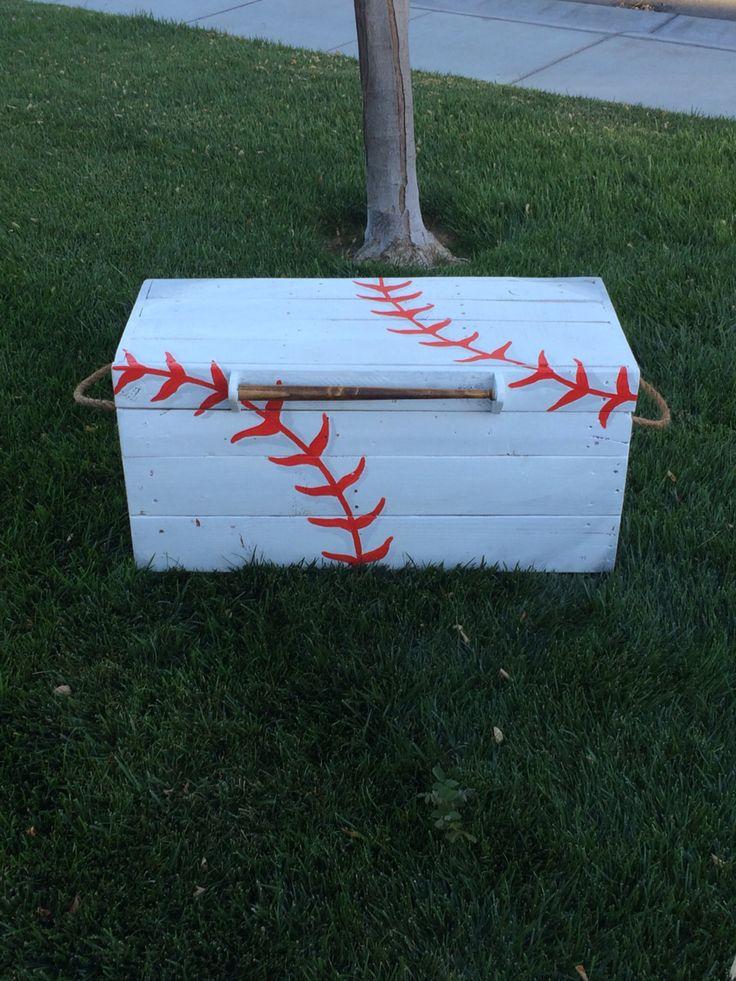 Custom baseball toy box for sale