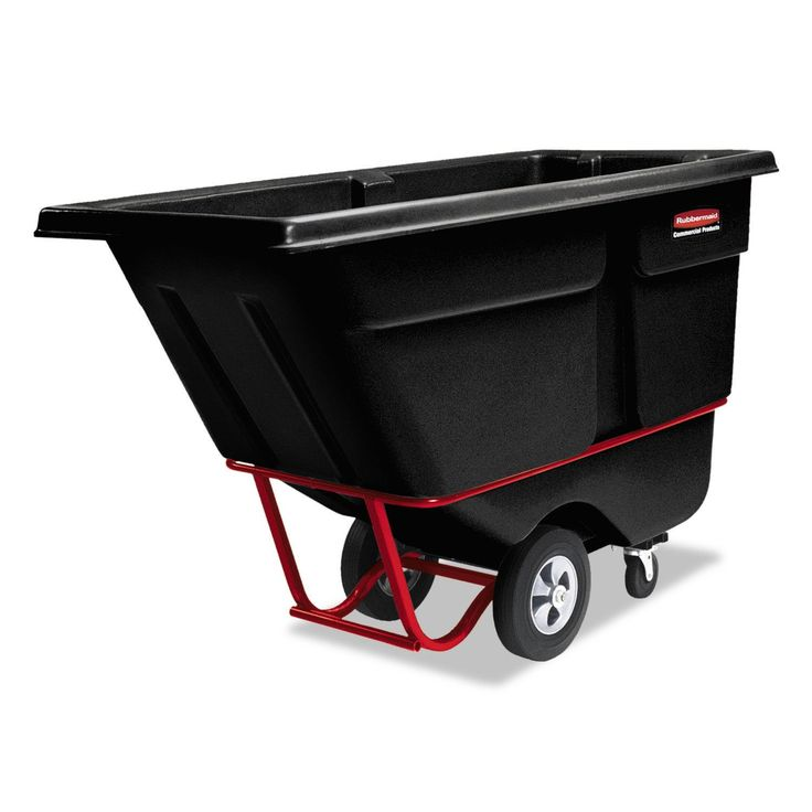rubbermaid commercial rotomolded tilt truck rectangular 12 cu yard 850pound capacity - Rubbermaid Utility Cart