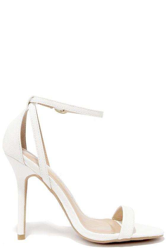 22 best White Heels images on Pinterest | White heels, Ankle strap ...