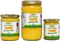 Grass-fed Organic Ghee from pastured cows. No GMOs, no added salt, no preservatives, no Trans Fats, no colors or dyes, no MSG, no flavor enhancers. The only ingredient is milk, with absolutely nothing else added to it.