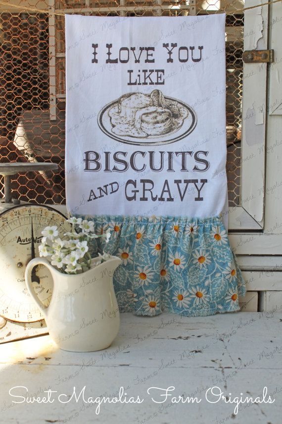 A Sweet Magnolias Farm Original ...      Our Vintage Style Flour Sack Towels are sure to add a wonderful vintage charm to your Kitchen, Bath,