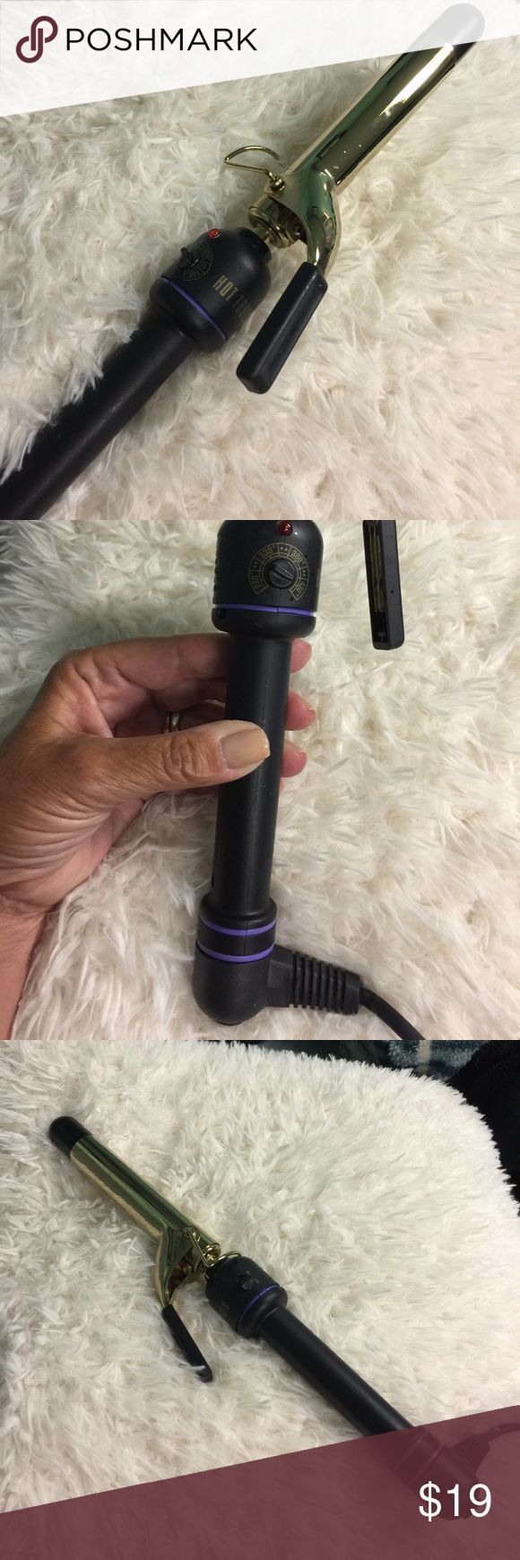 HOT TOOLS 1 INCH CURLING IRON Hot tools curling iron.  Bouncy curls and waves with the 1 inch wide rod. Temperature settings from 280-430. On off switch. Spiral swivel handle. Resting stand. Hot Tools Accessories Hair Accessories