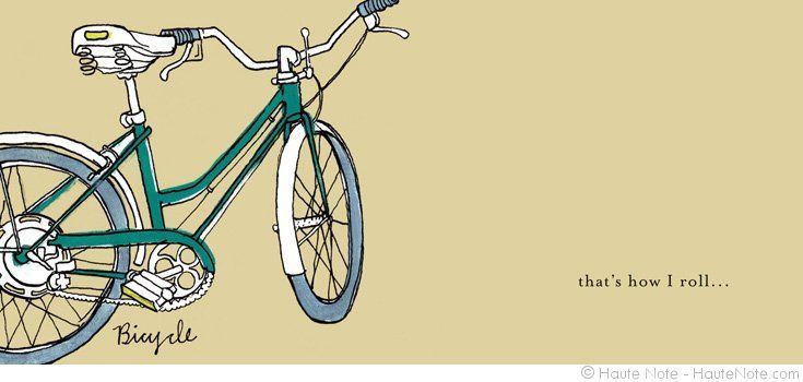 Activity - Bike - That's How I Roll - Personalize your own stationery with a name, message or invitation. Sold in boxed sets of 8 cards. hautenote.com