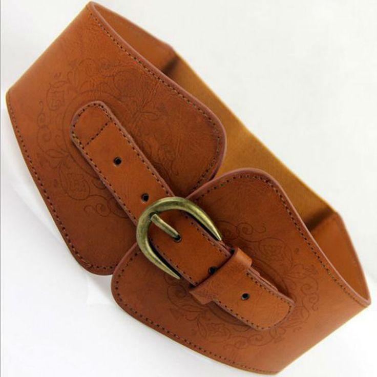 Female designer fashion brand waist belt,lady's waist Retro totem imitation leather pin buckle wide belt For women-in Belts & Cummerbunds from Women's Clothing & Accessories on Aliexpress.com | Alibaba Group