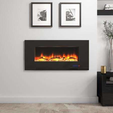 Buy AmberGlo Wall Hanging Electric Fire with LED Light Effect AGL009 from Appliances Direct - the UK's leading online appliance specialist