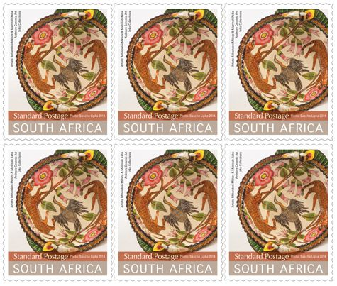 A magnificent Ardmore bowl created by Obed Mkize and painted by Matrinah Xaba has been selected by the SA Post Office for the latest 'South African Ceramic Vessel' postage stamp collection. www.midlandsmeander.co.za