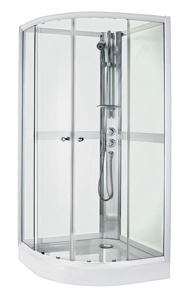 Gustavsberg-Suihkukaappi Nautic puolipyöreä, 90x90cm, valkoinen