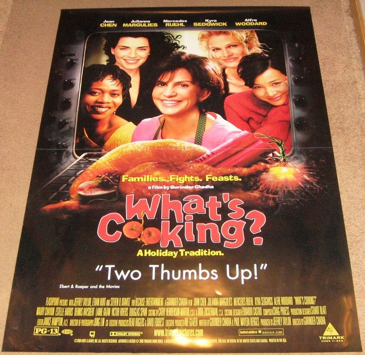 What's Cooking? Movie Poster 27x40 Used Joan Chen, A Martinez, Maury Chaykin, Maria Carmen, Ann Weldon, Gregory Itzin, Adrian Armas, Chao Li Chi, Shareen Mitchell, Chad Todhunter, Isidra Vega, Gwendolyn Oliver