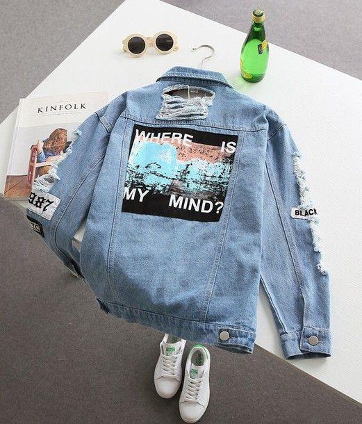 Jacket: denim jacket, grunge, tumblr, blue - Wheretoget