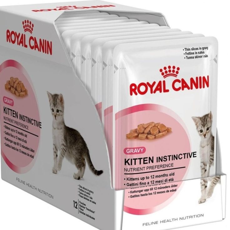 ซ อเลยตอนน ราคาโปรโมช น Sp Royal Canin Kitten Instinctive Gravy อาหารเป ยกสำหร บล กแมว 4 เด อน 1 ป แม แมวต งท อง เกรว 85 G 1 กล อง 12 ซอง Ro Kucing