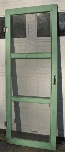 3 Panel Wooden Screen Door