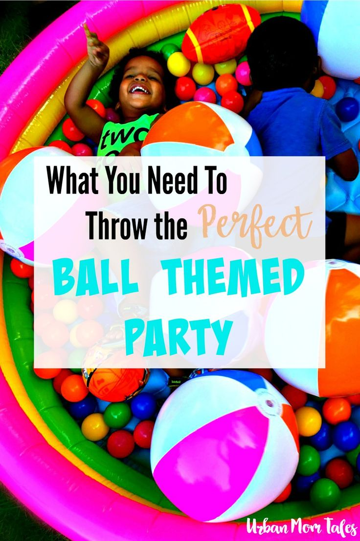 Want to throw a ball themed birthday party your toddler will love? Read this post for everything you need- including a ball pit and bubble machines!